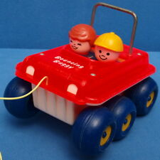 FISHER PRICE AUTO BOUNCING BUGGY # 122 DOG LITTLE PEOPLE VINTAGE CAR