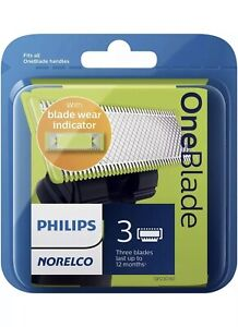 Philips Norelco - OneBlade Replacement Blade (3-Pack) - Silver/Green/Black