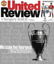 Football Programme>MAN UTD v RANGERS Sept 2010 UCL