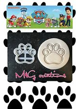 Paw Patrol Cookie Cutters Cup Cake Cake Decorating Fondant Gum Paste UK Seller