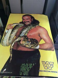 SET OF 4 RARE 1980S WWF WRESTLING POSTERS  WWE SNAKE SUPERFLY BRUTUS BUSHWACKERS