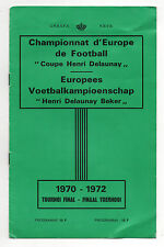 Orig.PRG    European Championship BELGIUM 1972 - FINAL TOURNAMENT  !!  RARITY