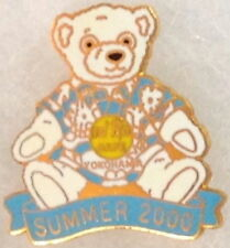 Hard Rock Cafe YOKOHAMA 2000 Summer Teddy Bear in Hawaiian Shirt HRC Logo #10550