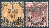 Deutsche Post in der Türkei,Mi.-Nr.9bo,19bao, feinst/pracht, beide BPP