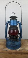 Antique Lantern Dietz Little Wizard Red Globe Kerosene Lamp