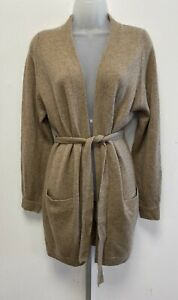 NEW! M&S Marks & Spencer Autograph camel wool/cashmere longline belted cardigan