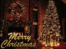 """~Post Card~Merry Christmas-""""Home Decorated for Christmas Holiday"""" (C18)"""