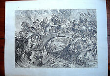 GRANDE Gravure LA BATAILLE DES AMAZONES d'après Pierre-Paul RUBENS