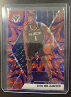 Zion Williamson 2019-20 Panini Mosaic SP Reactive Blue Prizm RC #209 Pelicans 🔥