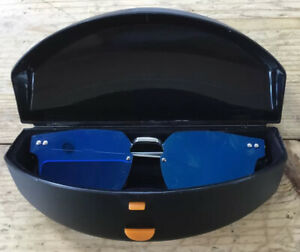 Spitfire Retro Blue Mirrored Flat Lens  Sunglasses With Hard Case Brand New