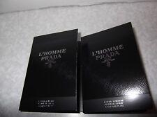 Men's L'Homme PRADA Milano Original Eau De Toilette 2 x 1.5ml Sample Sprays. New