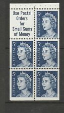 Australia 1966 5c booklet panes 6, MM at top margin touching the stamps,SG 386ca