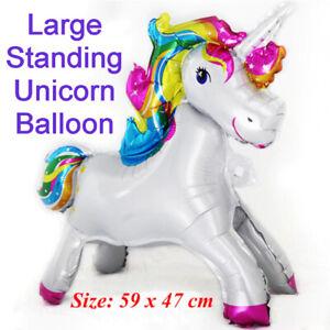 Unicorn Balloon - Large Standing Foil Balloon, Party Supplies Kids Fantasy
