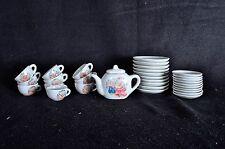 Large Set of Pretty Port Ltd Miniature Doll House Fine China Tea Set