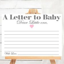 Baby Shower Game - A Letter to Baby - Baby Wish Cards - Baby keepsake - Advice