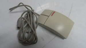 Vintage Genuine Compaq PS/2 M-S28 Track Ball Mouse 2 Button