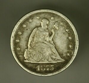 Liberty Seated 20 Cents 1875-S   VF    T3