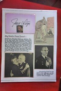 BRIGADIER GENARAL JAMES DOZIER  HAND SIGNED CARD SET ON PAGE