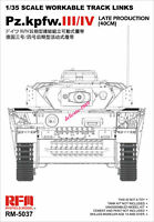 Ryefield RM5037 1/35 scale WORKABLE TRACK LINKS Pz.Kpfw.III/IV PRODUCTION (40CM)