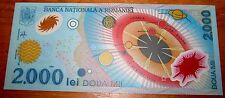Romania Bank Note Plastic See Through Unique Signed World Multi Coloured Crest
