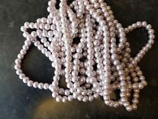 1 STRAND LILAC/MAUVE PEARL~8mm~ GLASS BEADS (approx110) Bracelets~Necklace (38D)