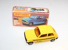 Top! Matchbox Lesney renault 5tl Yellow rare con original box MB 21c a partir de 1978