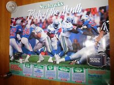 """1980'S SEATTLE SEAHAWKS """"PHOTO OF THE MONTH"""" POSTERS-2 DIFFERENT"""