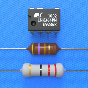 LNK364PN + Widerstand 22 Ohm 3W + HF Drossel 470µH Whirlpool, AEG, Bauknecht
