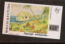 Wallis Futuna Isl 1994 Painting Landscape Imperf Sc # C175a Mnh