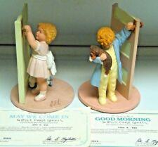 2 Vintage Danbury Mint Bessie Pease Gutmann Figurines 1992 & 1993