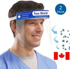 Safety Face Shield, Reusable Anti-Saliva Plastic Visors, Anti-Fog(Pack of 2)