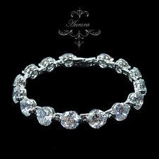 AAA Clear Swarovski Crystal Elements Silver Bracelet 8mm x 172mm Wedding Bridal