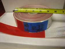 """WHITE RED Reflective   Conspicuity Tape 1-1/2"""" x 90' 7-11"""