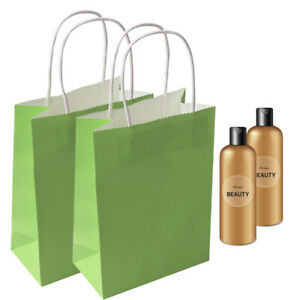 20pcs Recyclable Kraft Paper Bags Party Gift Bag Handle Mother Shopping Loot Bag