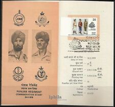 Punjab Regiment Stamped Folder India Army military Sikhs Sikhism Victoria Cross