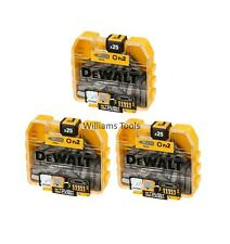 3 x DeWalt 25 x PZ2 Screwdriver Drill Bits in Small TStak Style Box Case 75 Bits