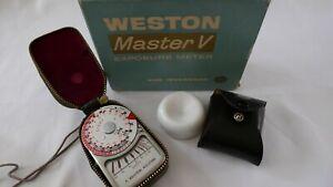 Vintage Weston Master Light meter & Invercone for 35mm/TLR 120 Camera Case + Box
