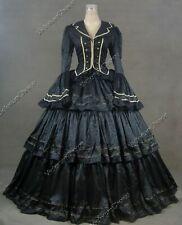 New listing Scarlett O'Hara Black Victorian Civil War Brocade Dress Ball Gown Theater 188 S