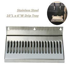 Dasmarine 6 X 10 Stainless Steel 304 Wall Mount Draft Beer Drip Tray No Drain