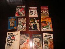 VINTAGE 1960S NFL PAPER BACK BOOKS JOE NAMATH JOHNNY UNITAS FRANK GIFFORD