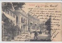 AK Karlovy Vary, Karlsbad, Neue Wiese, Theater, 1905