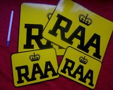 Royal Automobile Association RAA service vehicle DOOR STICKERS Vintage Tow Truck