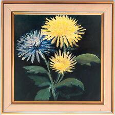 Ölgemälde Ölbild Kunstwerk Sammlerstück - Dahlien - Blumen - Geburtstagsgeschenk