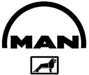man logo lorry mirror vinyl sticker decal