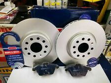 VW CADDY GOLF JETTA PASSAT POLO FRONT BRAKE DISCS AND PADS *COATED BORG & BECK*