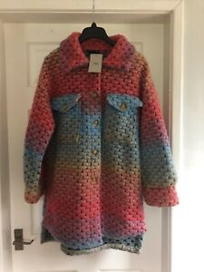 MADE IN ITALY 3S MULI-COLOURED JACKET/COAT SIZE CHEST 46 UK 14/16 NEW WITH TAGS