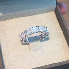 2.5Ct Round Cut Diamond Eternity Band 14k White Gold Over Engagement Ring SJ