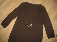 BODEN Shirt Gr. 18 wie 44 Maße! Glitzer Braun Baumwolle/Modal