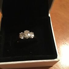 Ladies Platinum & Gold Diamond anniversary ring 1.5 Total CT