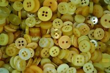 50 SMALL YELLOW New Buttons - Great for Sewing Craft Scrapbooking & more